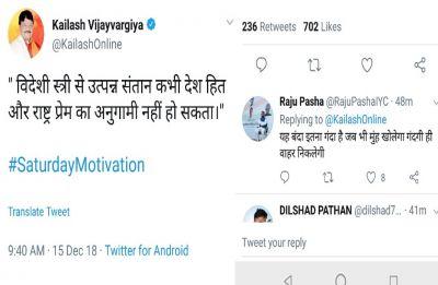 """Children of foreign origin woman…,"" BJP leader Kailash Vijayvargiya's tweet stirs controversy"