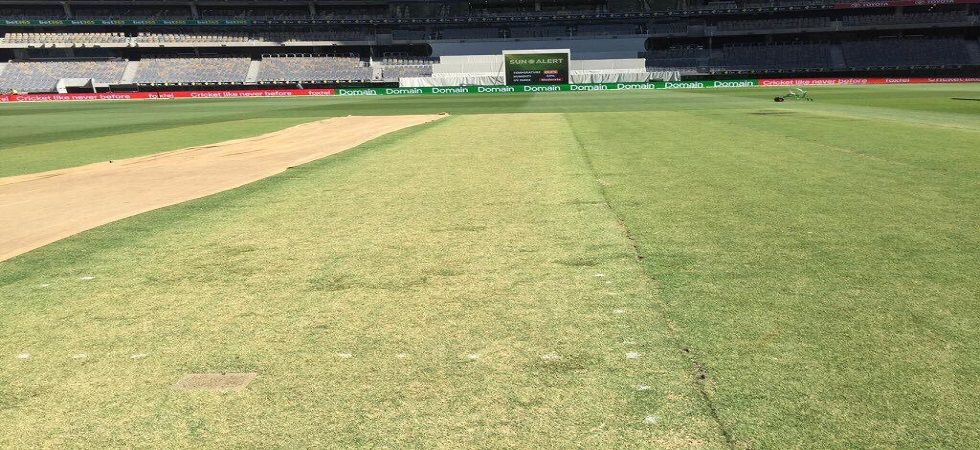 The wicket at the new Perth stadium provided plenty of assistance to the pace bowlers but the inclusion of a spinner could have given them respite. (Image credit: Twitter)