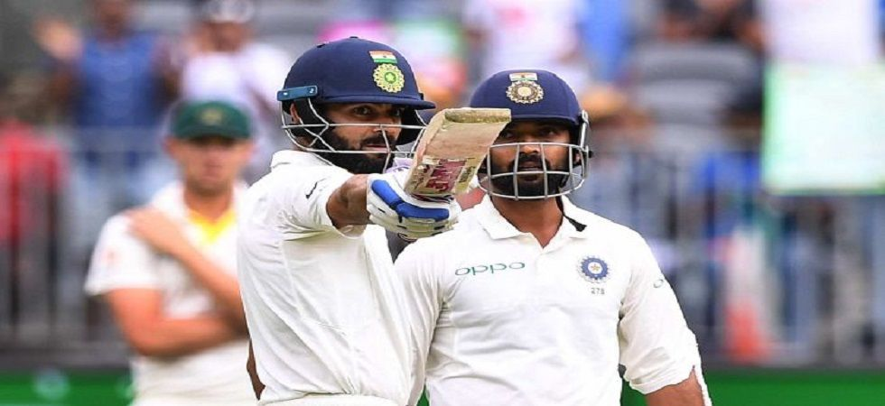 Virat Kohli and Ajinkya Rahane's solid stand helped India reach a good position against Australia. Get highlights of the 2nd Test here. (Image credit: Twitter)