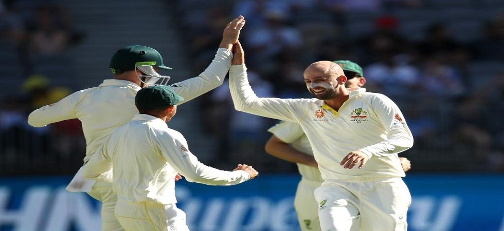 Nathan Lyon took Virat Kohli's wicket for the seventh time in Tests as Australia neared a famous win. (Image credit: Twitter)