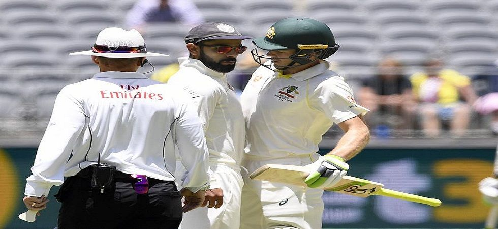 Virat Kohli and Tim Paine were involved in a war of words during the Perth Test. (Image credit: Twitter)