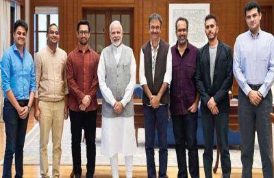 Directors Ritesh Sidhwani, Karan Johar, Sidharth Roy Kapur and others meet PM Modi in Mumbai