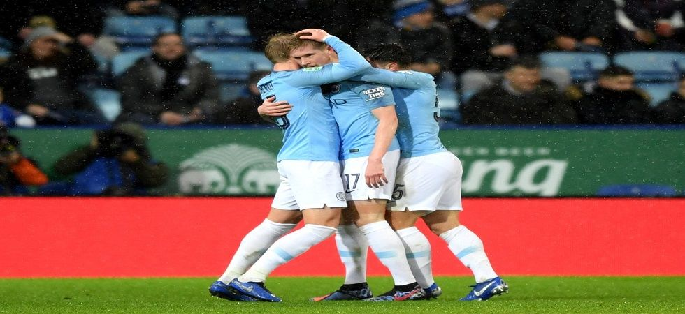 Manchester City faced a stiff resistance from Leicester to reach the semi-final of the English League Cup. (Image credit: Twitter)