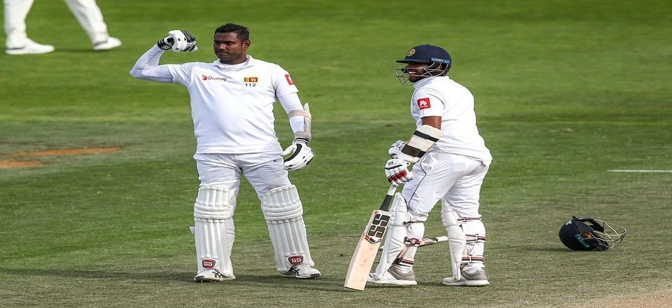 Angelo Mathews and Kusal Mendis' fourth-wicket stand of 274 helped Sri Lanka avoid defeat against New Zealand in Wellington. (Image credit: Twitter)