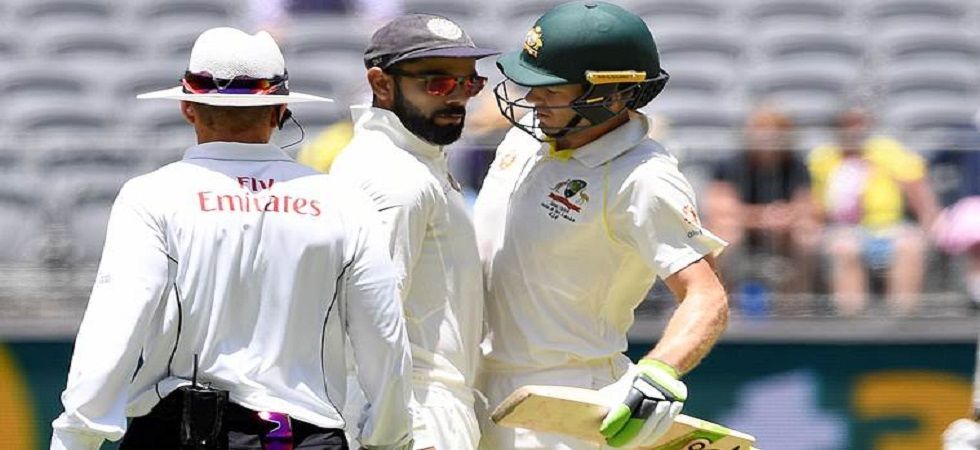 Virat Kohli and Tim Paine were involved in a heated war of words in the Perth Test between India and Australia. (Image credit: Twitter)