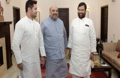 Amid growing conflict over 2019 seat-sharing pact, Ram Vilas Paswan, son Chirag Paswan meet Amit Shah