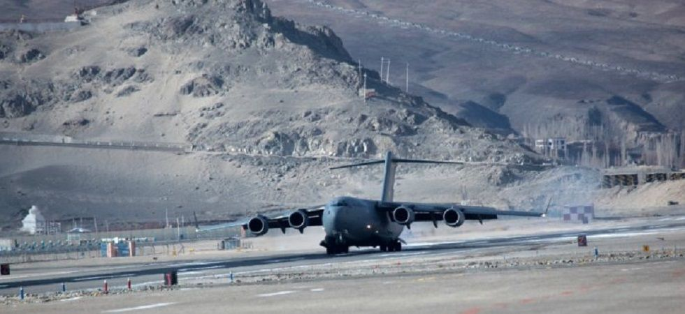 The exercise to airlift approximately 500 tonnes of cargo in a single wave was undertaken to assess the capability of the force towards rapid and heavy airlift. (Photo: IAF/Twitter)