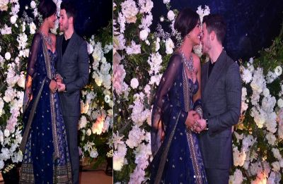 Priyanka Chopra and Nick Jonas can't stop giggling at their Mumbai Reception, Watch video