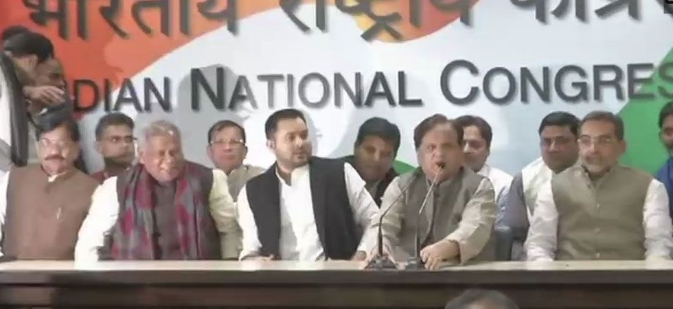 After joining the Grand Alliance, Kushwaha said the biggest reason for joining the anti-BJP front was people of Bihar. (ANI Photo)