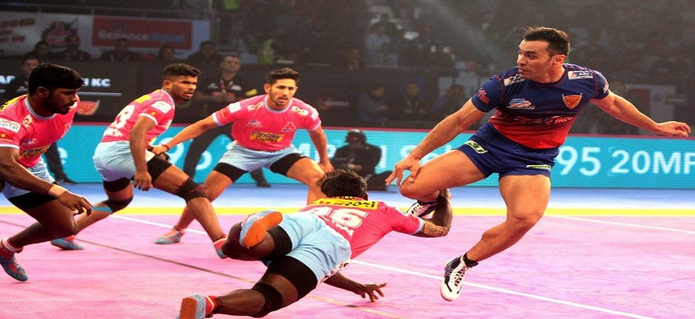 Dabang Delhi play out 37-37 draw with Jaipur Pink Panthers (Twitter)