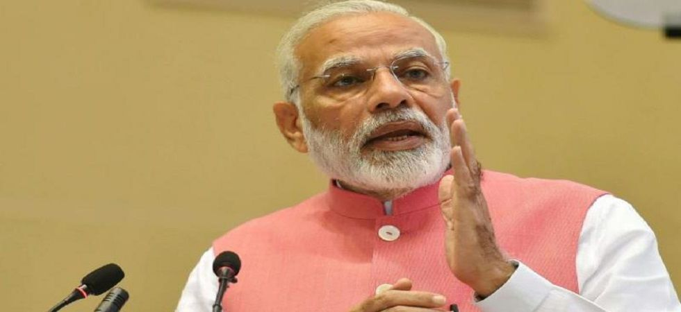 Speaking at the fifth national convention of BJP Mahila Morcha in Gandhinagar, PM Modi targeted the Congress, saying women's welfare was never a priority of the previous governments. (PTI/file)