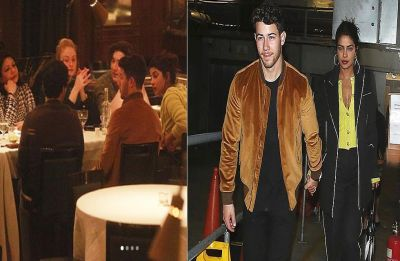 Priyanka Chopra and Nick Jonas go on a family dinner in London, see PICS
