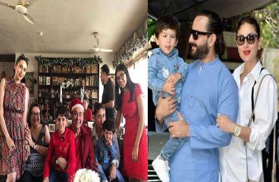 Kareena Kapoor Khan attends annual Kapoor Christmas lunch with Saif, Karisma, son Taimur, see pics