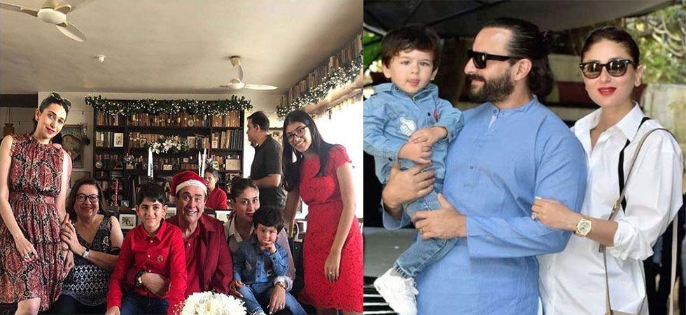 Kareena Kapoor Khan, Saif Ali Khan, Taimur and Karisma arrived for Christmas brunch./ Image: Instagram
