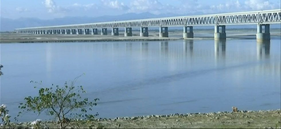 The 4.9 km-long Bogibeel Bridge on the Bramhaputra river is India's only fully welded bridge for which European codes and welding standards were adhered to for the first time in the country. (Photo: ANI)