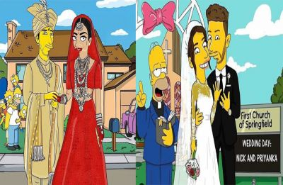Priyanka Chopra and Nick Jonas get The Simpson treatment and fans are just loving it!
