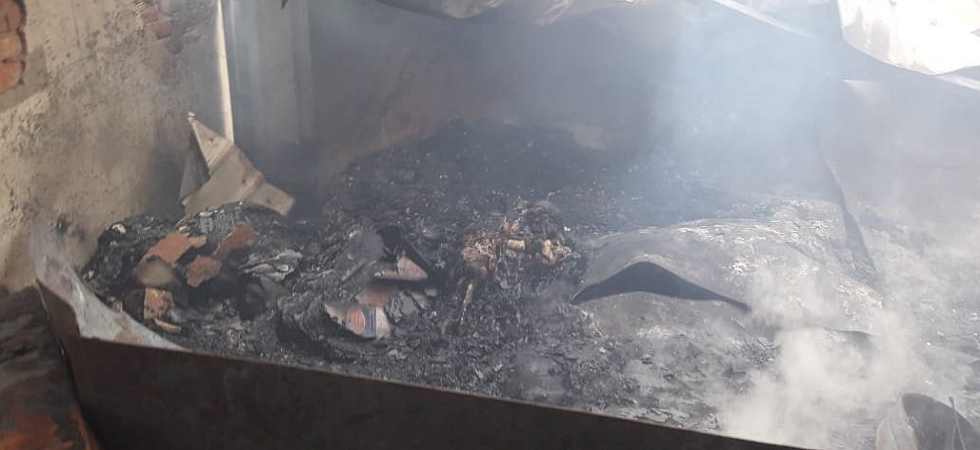 The reason behind the fire is yet to be known. (ANI)