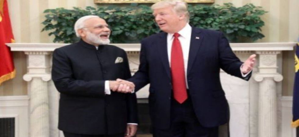 The US President referred to his friendly terms with Prime Minister Modi, but appeared critical of a library funded by India in Afghanistan