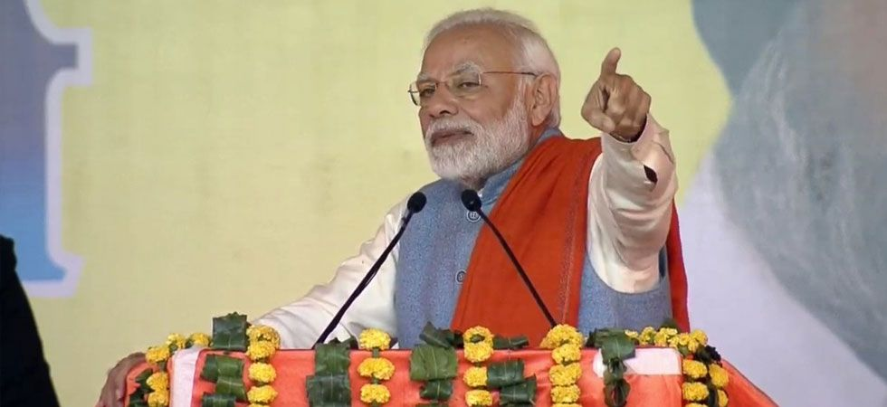 Prime Minister Narendra Modi also raised the issue of Kartarpur corridor and said that the NDA government took a historic decision of making it possible.