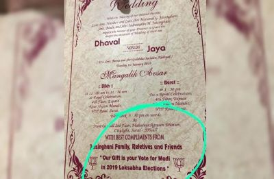 PM Modi's followers ask guests not to gift in wedding but instead vote for BJP in 2019 Lok Sabha Elections