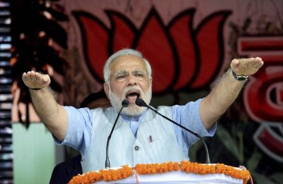 PM Modi accuses Congress of working at behest of 'middlemen', inaugurates projects in Odisha