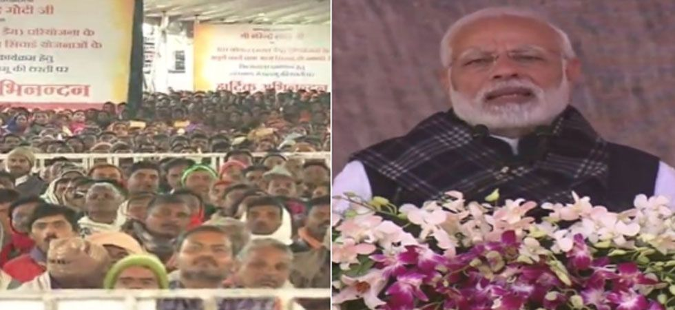 Modi said that the schemes of the previous governments which were named after their leaders no longer exist. (ANI Photo)