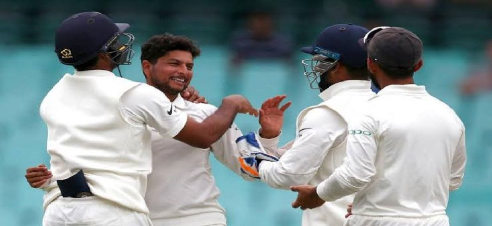Kuldeep Yadav picked up his second five-wicket haul in Tests during the Sydney game against Australia. (Image credit: Twitter)