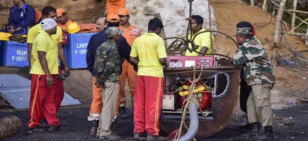 Rescue operations are underway to extract miners stranded in the mine for last 25 days. (PTI Photo)