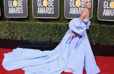 Golden Globes 2019: Lady Gaga's blue Valentino gown certainly owned the red carpet