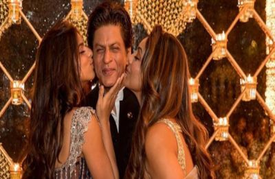 Shah Rukh Khan gets a kiss from his wife Gauri and daughter Suhana, see PIC