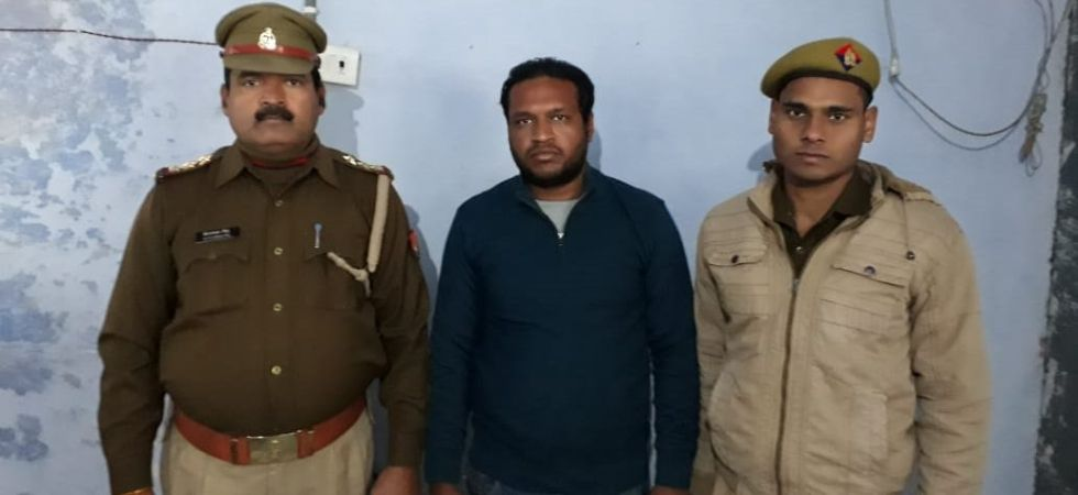 Bharatiya Janata Yuva Morcha member Shikhar Agarwal was arrested during an early morning hour operation from UP's Hapur. (Photo tweeted by ANI)