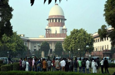Protests outside Supreme Court after adjournment of Ayodhya land dispute case hearing