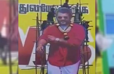 WATCH VIDEO: Actor Ajith's cut-out collapses during pouring of milk in Tamil Nadu, 5 people injured