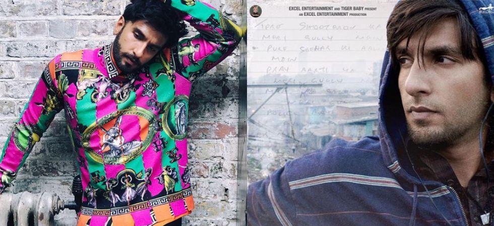 Ranveer Singh will be next seen in Zoya Akhtar's Gully Boy./ Image: Instagram