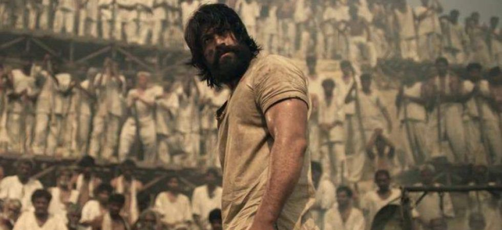 Yash in KGF's trailer./Image: YouTube