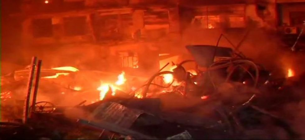 Massive fire breaks out in four-storey building in Delhi's Kirti Nagar (Photo Source: ANI)