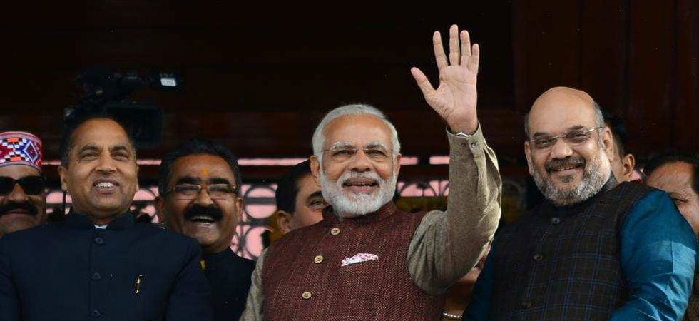 PM Narendra Modi with Himachal Pradesh CM Jai Ram Thakur