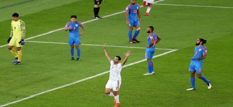 India lose to UAE 0-2 (Twitter)