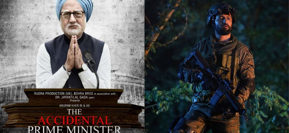 Anupam Kher in The Accidental Prime Minister and Vicky Kaushal in Uri./ Image: Twitter