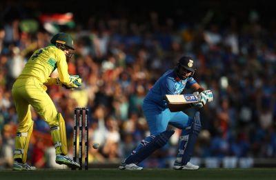 Australia survive Rohit Sharma blitz to win Sydney ODI by 34 runs to take lead