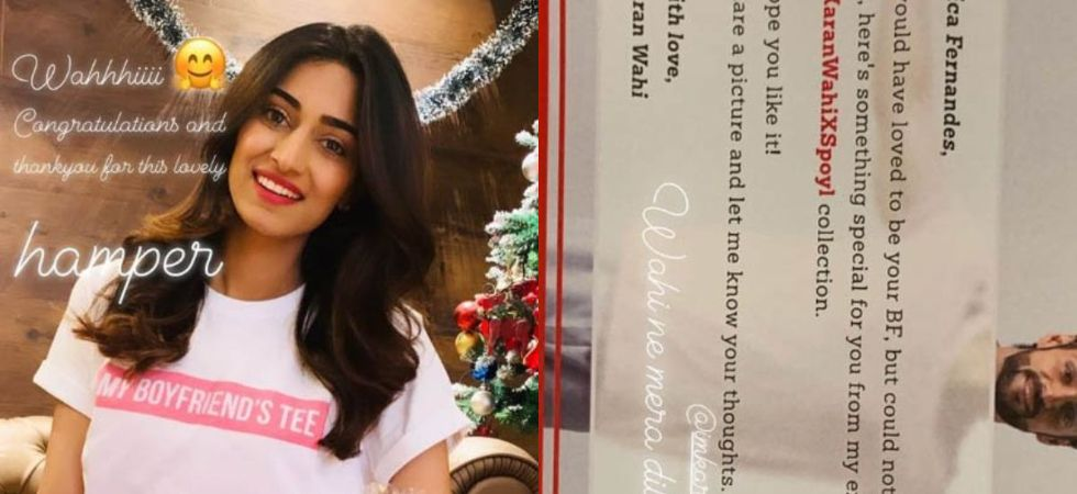 Karan Wahi sent a hamper of his newly launched collections to Erica Fernandes./ Image: Instagram