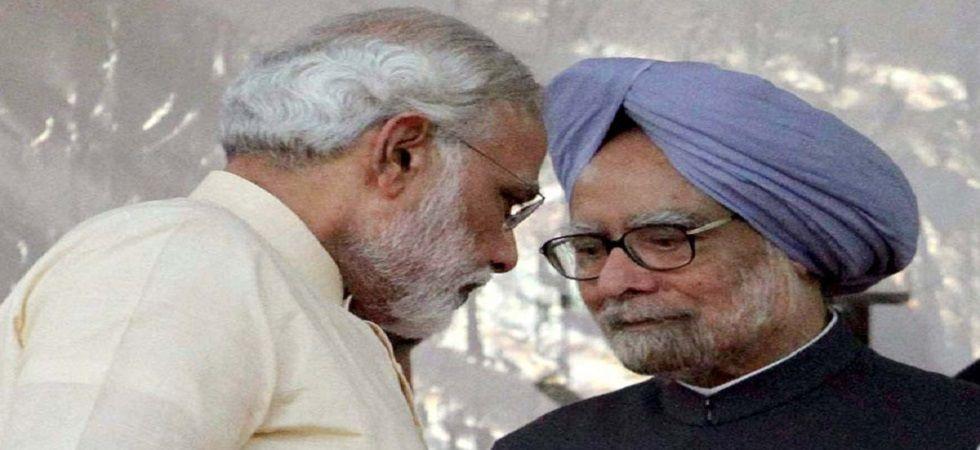 Prime Minister Narendra Modi and former PM Manmohan Singh (PTI/file)