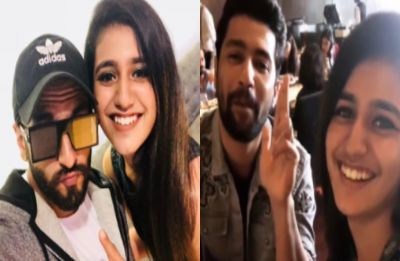 'Wink girl' Priya Prakash Varrier has a fan girl moment with Ranveer Singh and Vicky Kaushal