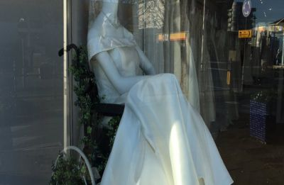 This bridal shop is winning hearts for displaying a mannequin on wheelchair