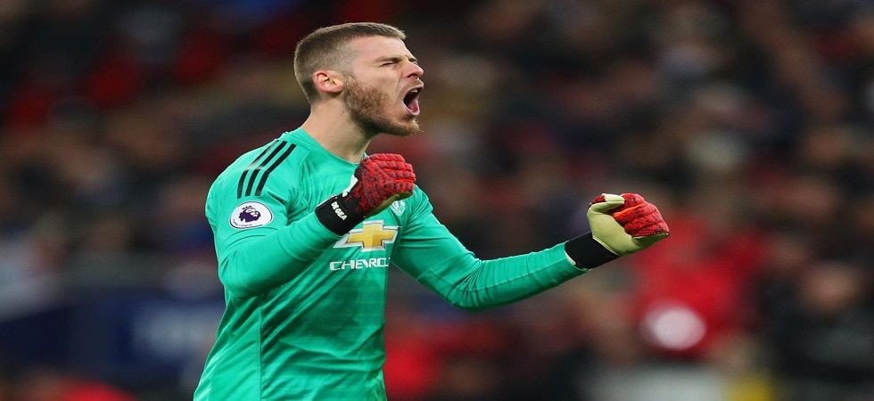 David de Gea's magnificent goalkeeping was a key factor in Manchester United's win. (Image credit: Twitter)
