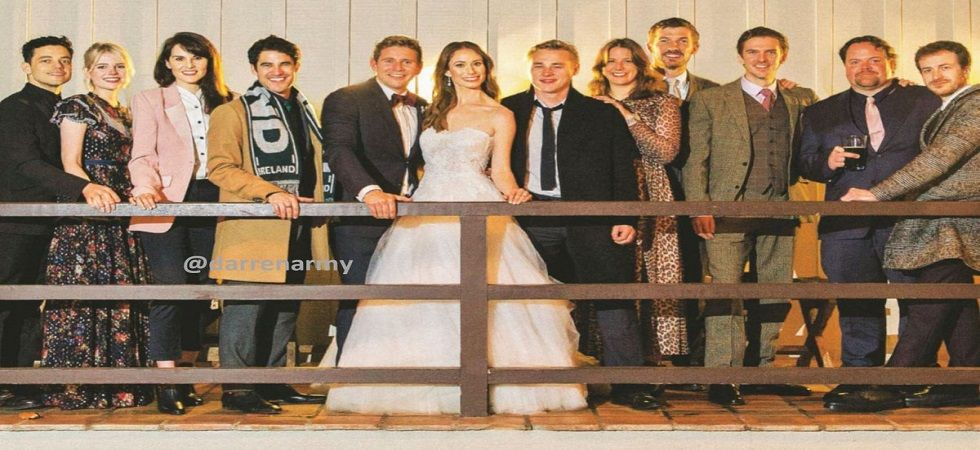 Allen Leech ties the knot with Downton Abbey's Jessica Blair star (Photo: Twitter)