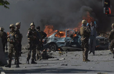 Four killed, 40 wounded as huge car bomb blast rocks Kabul's Green Village where foreigners live