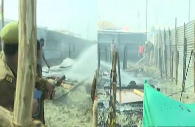 Cylinder blast in Digambar Akhada camp causes massive fire at Kumbh Mela, goods worth lakhs gutted
