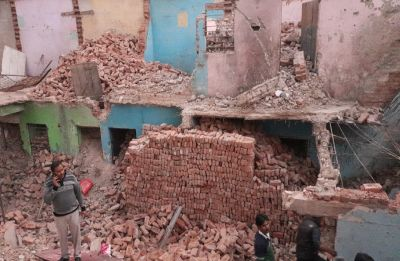 Building collapses in Noida's Nithari, 1 child dead, 3 injured