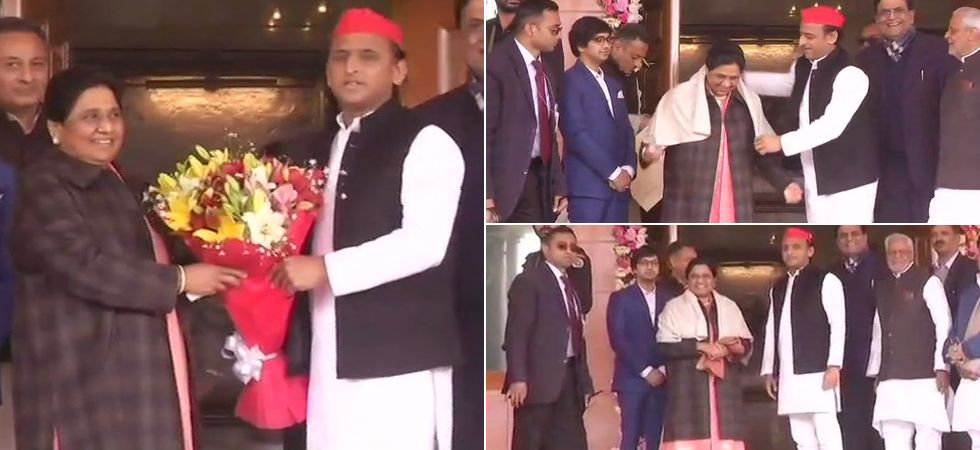 Both Akhilesh's SP and Mayawati's BSP decided on a 50-50 seat-sharing deal under which each party will contest 38 seats in 2019 Lok Sabha polls. (Photo: ANI)